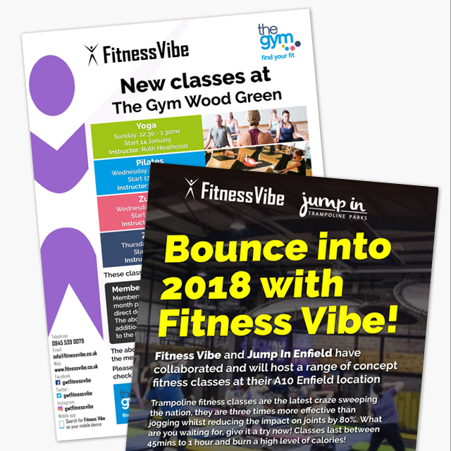 Fitness Vibe flyers